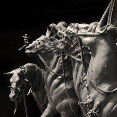 Four Horsemen of the Apocalypse, Sadan Vague on ArtStation at https://www.artstation.com/artwork/ayB02