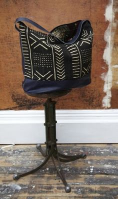 ikat print leather from west african print fabric