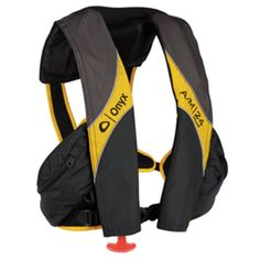 Onyx A/M-24 Deluxe Automatic/Manual Inflatable Life Jacket - Carbon/Yellow