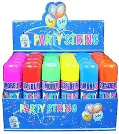 Blue Box Party String - not Silly String - 24 Cans Whoa..... https://smile.amazon.com/dp/B008PZGGVE/ref=cm_sw_r_pi_dp_x_gmEdybVBAVKN4