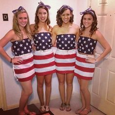 Went to an ABC Party with my girls! Made dresses out of American Flags! Abc Party Costumes, Halloween Costumes, Costume Ideas, Halloween Ideas, Halloween Party, American Party, American Flag, American Girl, Anything But Clothes