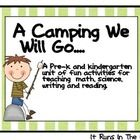 Science, Math, and Language Arts activities for Pre-K and Kindergarten with a camping theme!    Included Activities:  -Vocabulary Cards  -Journal paper...