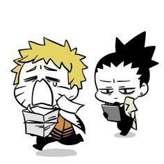 Naruto Hehe Naruto's new life as a Hokage Shikamaru - Naruto Kakashi, Naruto Shippuden Sasuke, Anime Naruto, Naruto Chibi, Naruto Cute, Sarada Uchiha, Anime Chibi, Kawaii Anime, Otaku Anime
