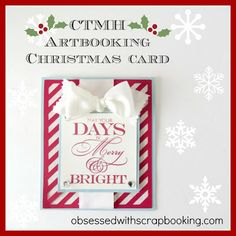 [Video]CTMH Close to My Heart Artbooking Cricut Christmas Card - first of the season!