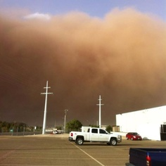Denver city texas dust storm. Me kevin and ethan was there when the dust storm came through