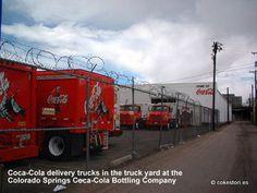 Coca-Cola delivery trucks in Colorado Springs