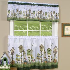 """Home Sweet Home 58"""" Valance and Tier Set"""
