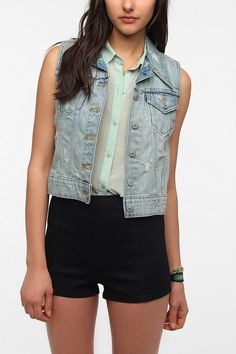 "Levi's Denim Trucker Vest -- ""This is probably my favorite thing in my closet right now."""
