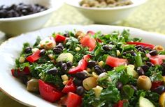 Kale, corn, avocado, and tomatoes add up to a seriously delicious salad. With the beans, this Southwestern-Flavored Kale Salad makes a fantastic main dish salad