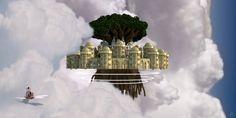 Laputa - Castle in the sky - Studio Ghibli movie Minecraft Project