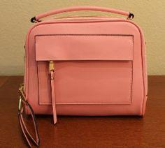 Yahoho Women's Cute Double Zipper Genuine Leather Handbag Top Handle Cross Body Shoulder Bag