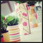 Cover tin cans with fabric for cool floral containers/vases Statigram – Instagram webviewer