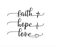 Faith Hope Love svg CUT file for silhouette cameo cricut Christian faith t-shirt heartbeat cross heart tshirt svg Greatest of these is love by DesignStoreByBlake on Etsy