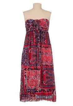 Tube Top Scarf Print Dress
