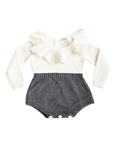 There are SO many ways to accessorize this gorgeous romper! Beautiful textures and accents of ruffle and buttons make this little numbertoo perfect to miss! W