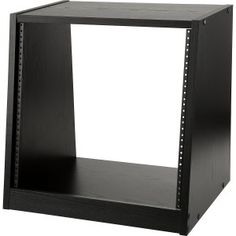 Raxxess 10 space slant rack http://ehomerecordingstudio.com/studio-rack-mount/