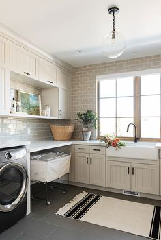 Laundry Room In Kitchen Awesome Sm Ranch House the Mudroom Laundry Room and Powder Bath Grey Laundry Rooms, Mudroom Laundry Room, Laundry Room Cabinets, Laundry Room Design, Mud Rooms, Small Laundry, Estudio Mcgee, Decoration, Architecture