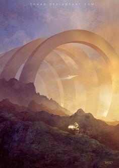 Sunset on Kepler 5, Sylvain Sarrailh on ArtStation at http://www.artstation.com/artwork/sunset-on-kepler-5