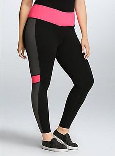 Torrid Active - Colorblock Legging Pants, DEEP BLACK