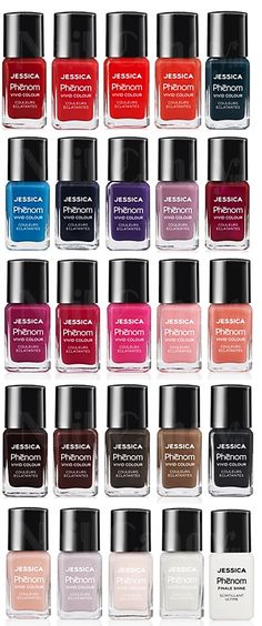 Jessica Phenom Collection now available in the salon. Looks like Gel Polish, dries in 10 minutes, remove like normal polish. Jessica Nail Polish, Nail Polish Art, Nail Polish Colors, Nail Art, Beauty Nails, Hair Beauty, Natural Manicure, Creative Nail Designs, Nail Candy
