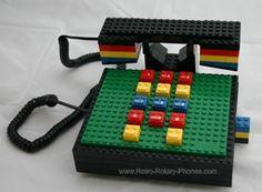 Tyco 'Lego' Telephone Retro 1980s