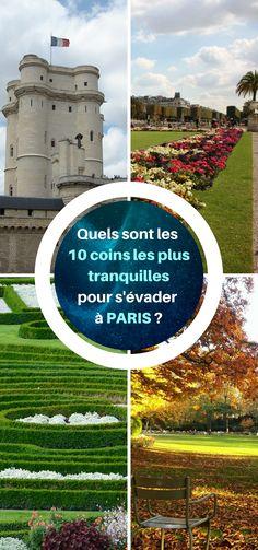 10 coins tranquillles à découvrir à Paris. Quels sont les endroits les plus reposants ? #Paris #Visite #Balade #Jardins Road Trip, Rando, Pisa, Tower, Coins, Building, Travel, Sport, Gardens
