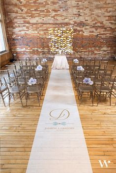 Prepare the way for your walk down the aisle with this stunning personalized aisle runner. It is the perfect addition to a glamorous wedding ceremony decor. We can't get enough of the elegant design and the cute tailored bow!