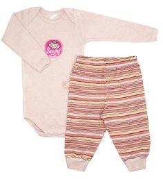 Conjunto de body e calça para bebês da loja virtual Baboobee! Acesse: http://mamaepratica.com.br/2016/04/11/roupas-de-bebe-e-criancas-outonoinverno/    #bebês #crianças #filhos #looks #roupas #enxoval #bodies #maternidade #recém-nascido #prematuro #roupinhas #body #bodies #outono/inverno