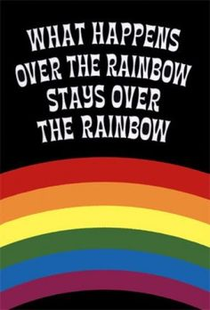 What happens over the rainbow...