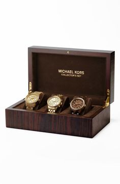 Michael Kors Ritz Boxed Watch Set available at #Nordstrom They SELL these?!? wow. too much.