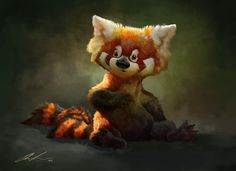Red panda sketch with video by ailah.deviantart.com on @deviantART