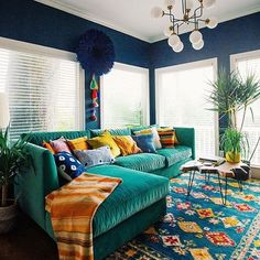 So much colour! :) I love this Bohemian interior design and this room is a beautiful part of a bohemian home decor theme. I love the bold colors mixed in with ecletic bohemian wall art and Bohemian decorative accents. A Gallery of Bohemian Bedroom Interior, Bohemian Living Rooms, Home Decor, Room Inspiration, Colourful Living Room, House Interior, Interior Design, Living Decor, Home And Living