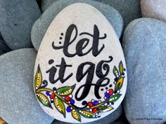 let it go / painted rocks / painted stones / by LoveFromCapeCod                                                                                                                                                      More