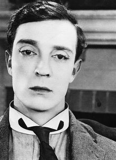 I'm always so amazed at how much makeup Silent Era stars wore.     Buster Keaton in Sherlock Jr., 1924.