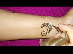 """DIY """"T"""" Letter Henna Tattoo Design I Alphabet T Letter Mehndi Design - YouTube"""