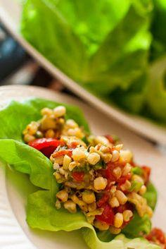 Christine's Kitchen Chronicles: BLT Corn Salad Wrap
