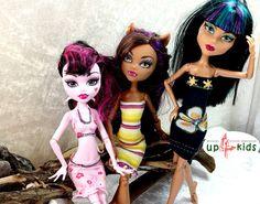 Monster Kleider Set 37 6815013 für z.B. Monster High, Ever After High und Puppen ähnlicher Größe Modepuppe Puppenkleider Puppenmode ghoulia