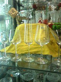 COPAS Y VASOS PERU: COPAS DE CRISTAL - VENTA White Wine, Wine Glass, Alcoholic Drinks, Tableware, Crystals, Vases, Puertas, Dinnerware, Dishes