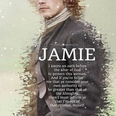 "Great, great speech from Jamie in ""the devil's mark"" ! James Fraser Outlander, Outlander Fan Art, Outlander Quotes, Outlander Season 1, Outlander Book Series, Sam Heughan Outlander, Starz Series, Outlander Casting, Outlander Wedding"