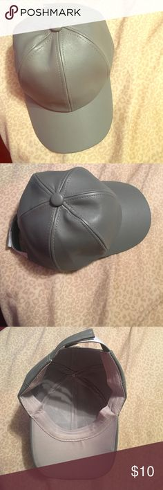 Faux Leather Hat Faux-leather Paneled crown Curved peak Adjustable back strap Wipe with a damp sponge 100% Polyurethane Fashion Nova Accessories Hats