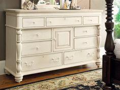 Paula Deen Home Linen Door Nine Drawers Double Dresser
