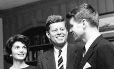 John Fitzgerald Kennedy  35th President of the United States In office January 20, 1961 – November 22, 1963 With His Brother RFK  And His  Wife .. .Jacqueline  Bouvier Kennedy.♛❤♛❤♛❤♛  http://en.wikipedia.org/wiki/John_F._Kennedy   http://en.wikipedia.org/wiki/Robert_F._Kennedy    http://en.wikipedia.org/wiki/Jacqueline_Kennedy_Onassis