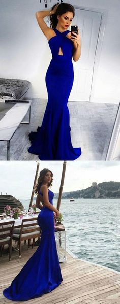 2018 Prom Dresses For Teens, Silk-like Prom Dresses Satin, Scoop Neck Prom
