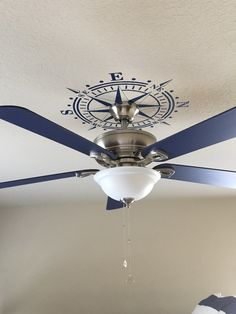 Ceiling medallion Compass Rose decal Nautical Beach Sailing Decor Ceiling Decal compass rose removable vinyl for nautical Decor sailing and beach house decor Beach Cottage Style, Beach House Decor, Coastal Style, Coastal Decor, Lake Decor, Nautical Interior, Nautical Design, Nautical Style, Nautical Bedroom Decor