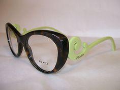 3ff7247b342e Prada glasses frame pr06qv 2au101 havana 51-21-140 eyeglasses new    authentic