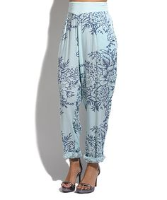 This Green & Blue Floral Harem Pants is perfect! #zulilyfinds