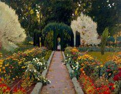 Santiago Rusiñol i Prats ~ Modernist/Symbolist painter Garden Painting, Love Painting, Garden Art, Painting & Drawing, Spanish Painters, Spanish Artists, Modern Artists, Great Artists, Sitges