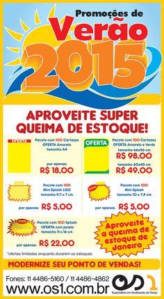 Compre pela Loja Virtual -> http://os1loja.mercadoshops.com.br/ ou direto pelo Facebook: https://www.facebook.com/os1sinalizacaodevarejo/app_136630803055321?ref=page_internal