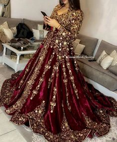 Caftan - Caftan Source by - Indian Bridal Outfits, Pakistani Wedding Outfits, Red Wedding Dresses, Indian Gowns Dresses, Pakistani Dresses, Morrocan Dress, Morrocan Wedding Dress, Afghan Dresses, Bridal Dress Design
