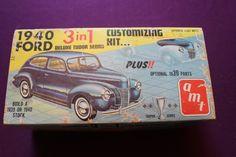 AMT 1940 Ford Deluxe Tudor Sedan 1 25 240 1 25 Model Car Kit Vintage Incomplete | eBay